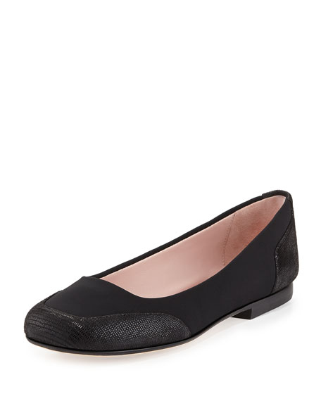 Taryn Rose Barrington Stretch Ballerina Flat, Black