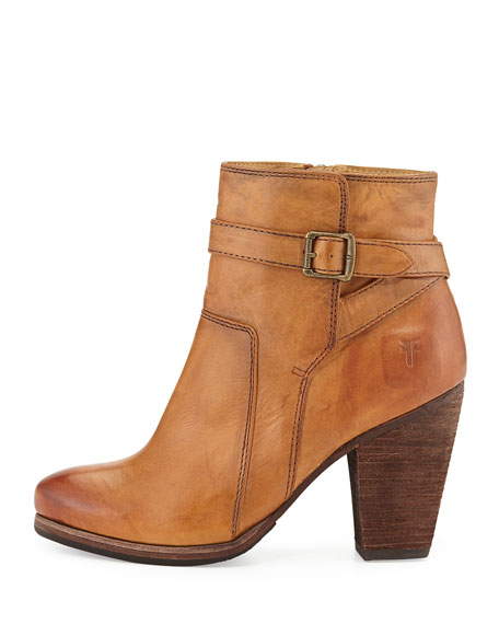 Patty Leather Ankle Bootie, Camel