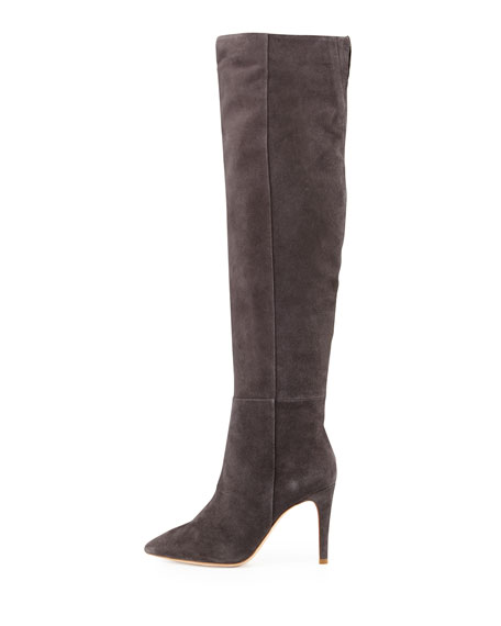 Olivia Suede Knee Boot, Gray