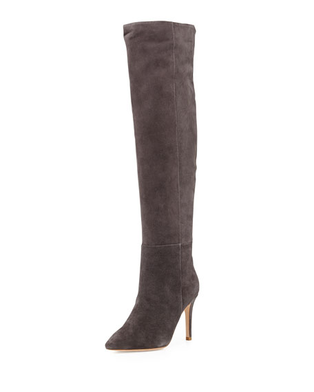 Olivia Suede Knee Boot, Gray