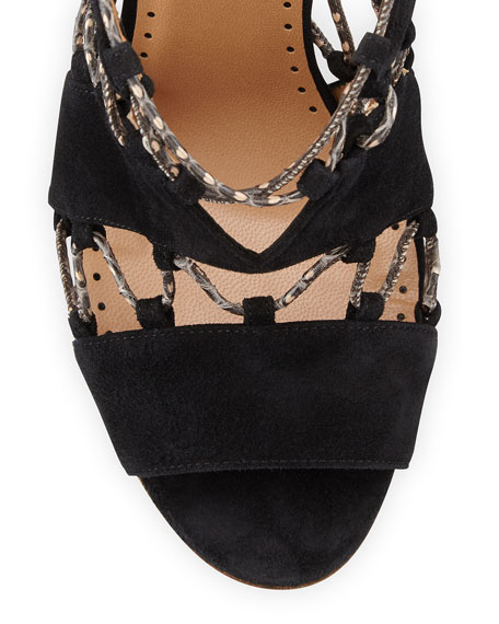 Alexa Wagner Suede Lace-Up Sandals best deals limited edition sale online very cheap na7X6QU3K