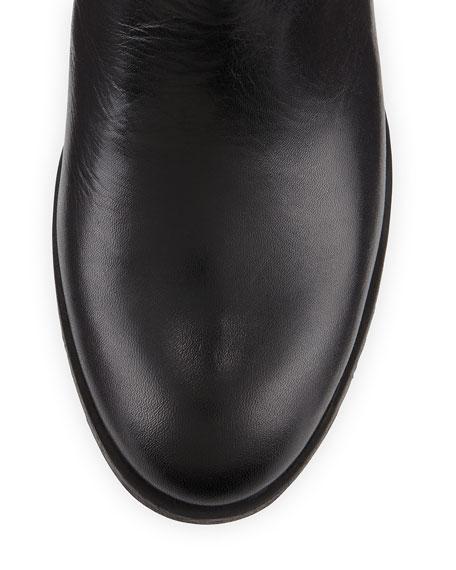Mamie Quilted Velvet Knee Boot, Black