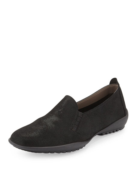 Sesto Meucci Angy Suede Slip-On Loafer, Black