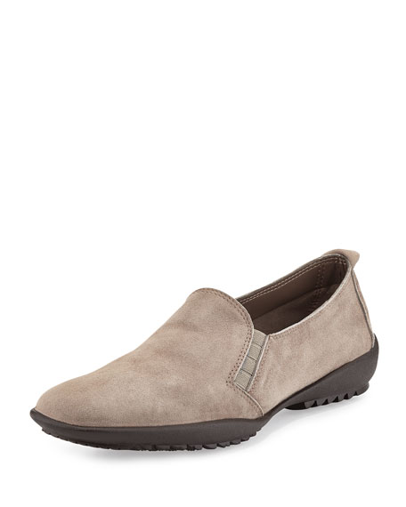 Sesto Meucci Angy Suede Slip-On Loafer, Taupe