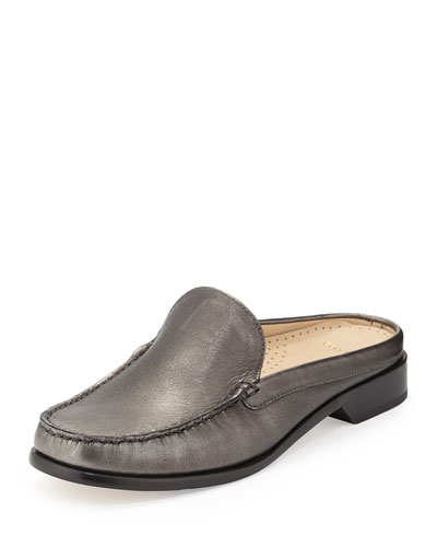 Ryann Leather Mule Slide, Gunsmoke