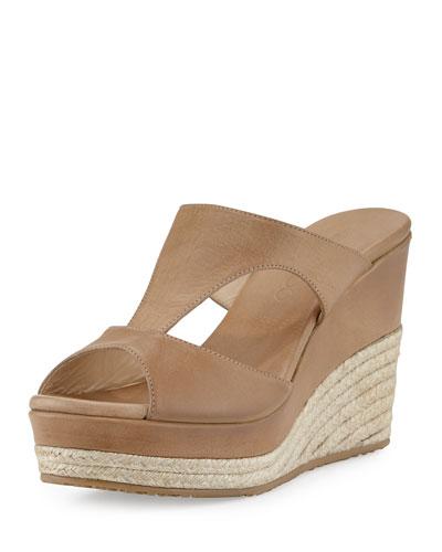 Pacane T-Strap Wedge Sandal, Tan
