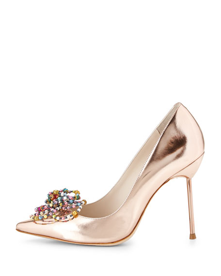 Coco Bead-Rose Metallic Pump, Rose-Golden