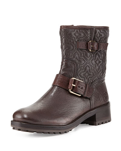 c97fb90a4b19 Tory Burch Chrystie Trapunto-Stitched Ankle Boot