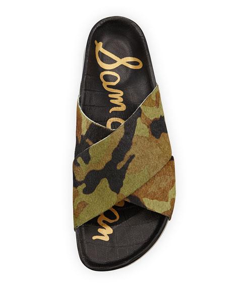 Adora Crisscross Sport Leopard Hair Calf Sandal wiTPulXZOk