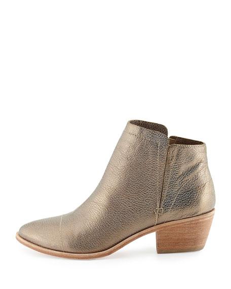 Jodi Metallic Leather Ankle Boot
