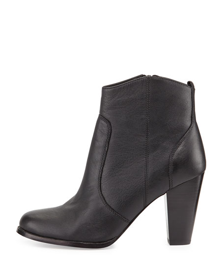 Joie Dalton Leather Ankle Boot, Black