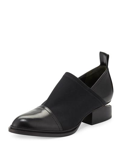 Alexander Wang Kori Stretch Neoprene & Leather Shoe, Black