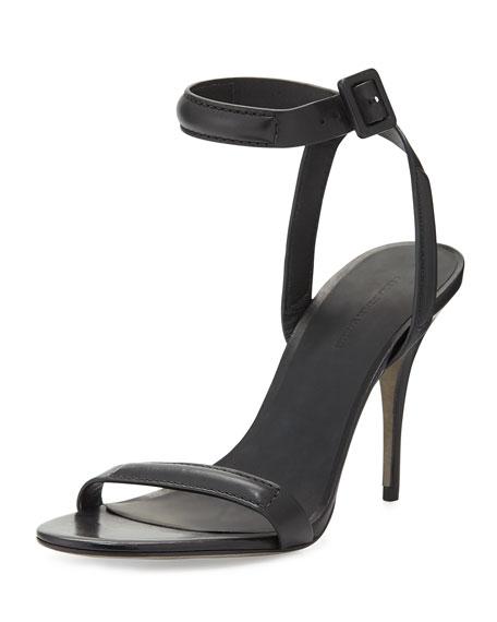 Antonia Leather Sandal, Black