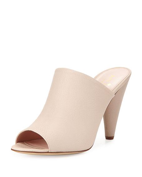 bova peep-toe slide sandal, powder
