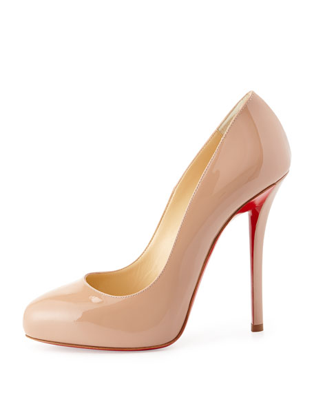 Argotik Patent Red Sole Pump, Nude