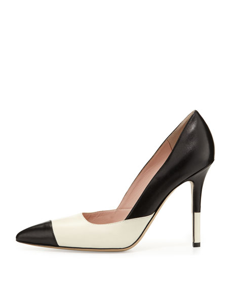lentica two-tone leather pump