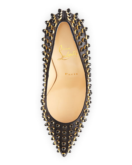 Christian Louboutin Follies Cabo Studded Red Sole Pump, Black