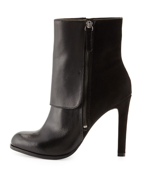 Tonia Fold-Over Cuff Bootie, Black