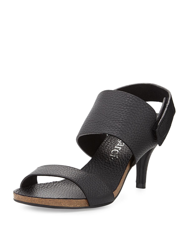 05ee2d14d7a Pedro Garcia Whisper Low-Heel Leather Sandal