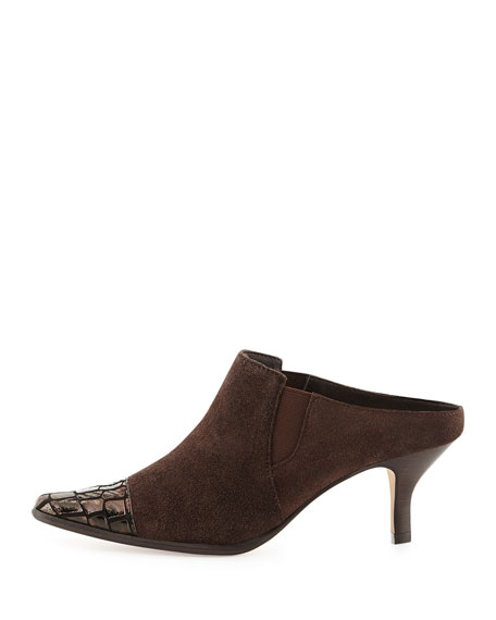 Donald J Pliner Leather Square-Toe Mules best place sale online cheap sale visit new really great deals online free shipping with mastercard yGo7DIzZ