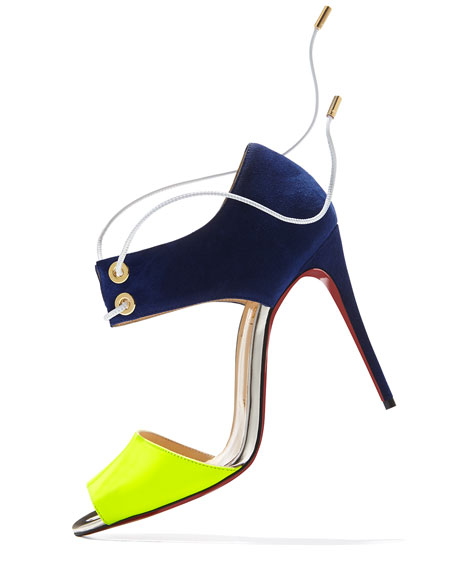 Mayerling Bicolor Fluorescent Red Sole Sandal