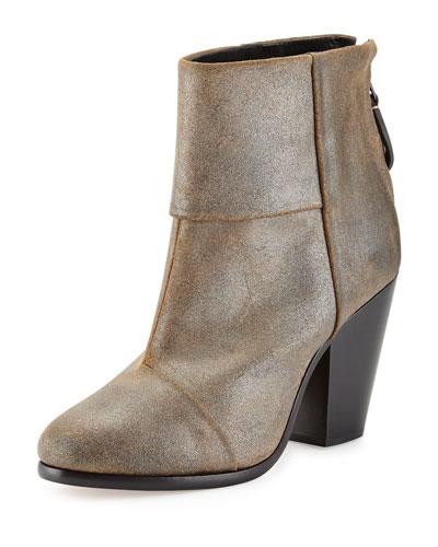 Rag & Bone Newbury Classic Ankle Boot, Metallic Taupe