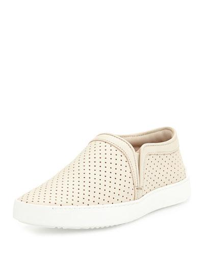 Rag & Bone Kent Perforated Slip-On Sneaker, White