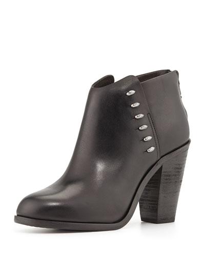 Rag & Bone Alwyn Leather Ankle Boot, Black
