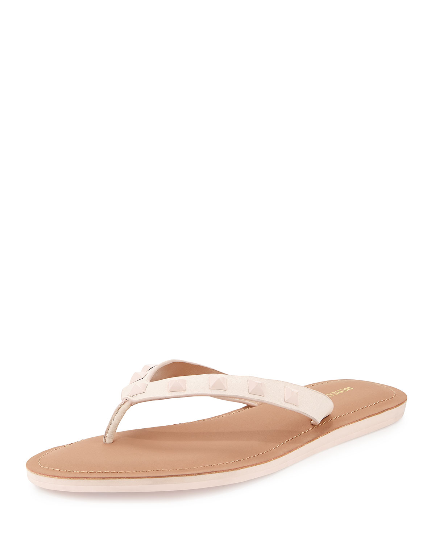 94a40351e102 Rebecca Minkoff Fiona Studded Thong Sandal
