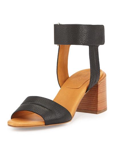 Anna Ankle-Strap Sandal, Black