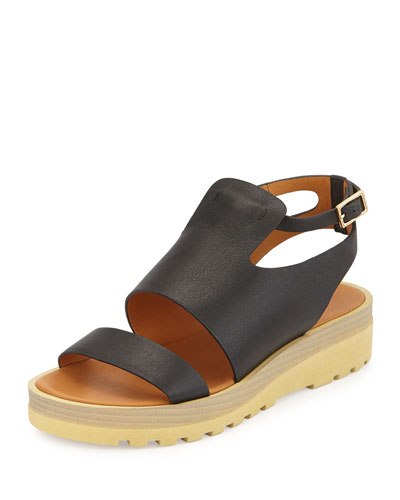 Robin Micro-Sole Slide, Black