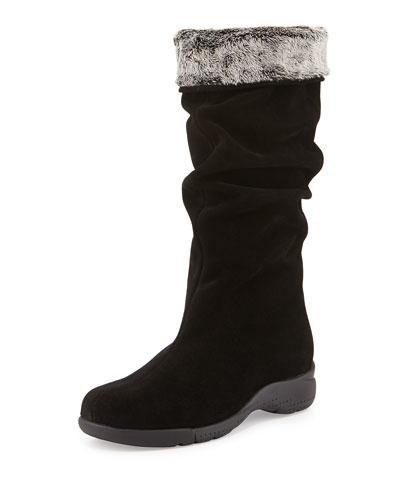 La Canadienne Trevis Slouchy Suede Boot, Black