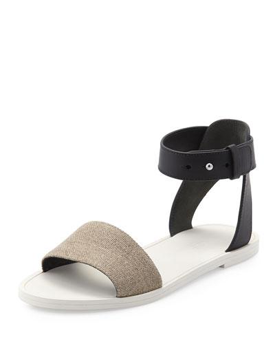181c19f4e58 Vince Sawyer Ankle-Wrap Flat Sandal