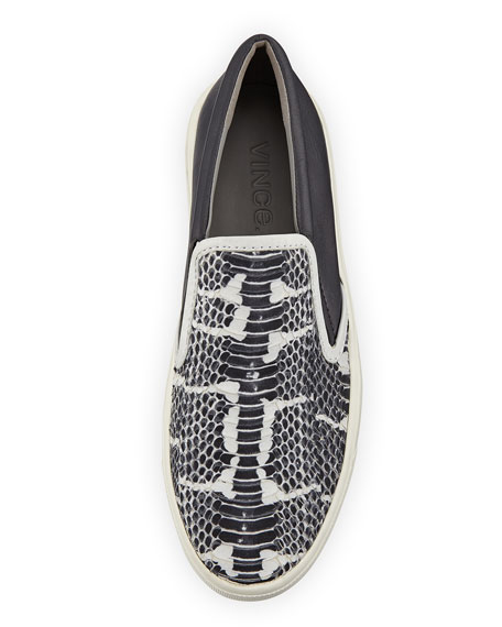 Banler Snake-Embossed Skate Shoe