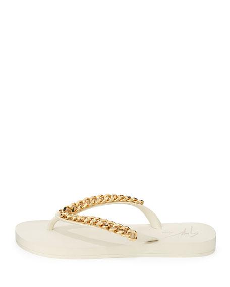 Chain-Detail Rubber Flip-Flop