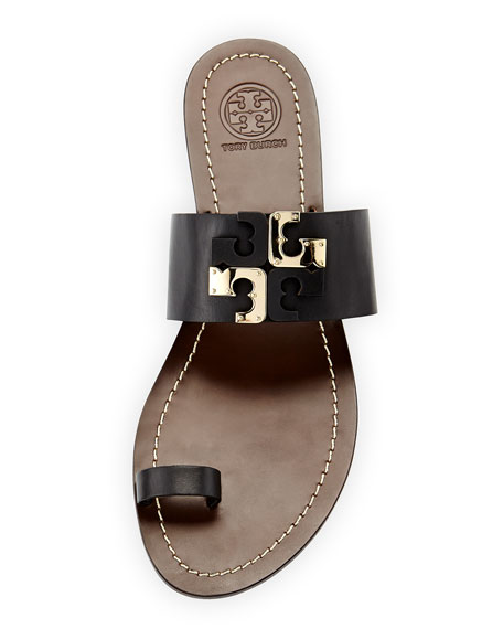 f50878e15 Tory Burch Lowell Leather Logo Slide