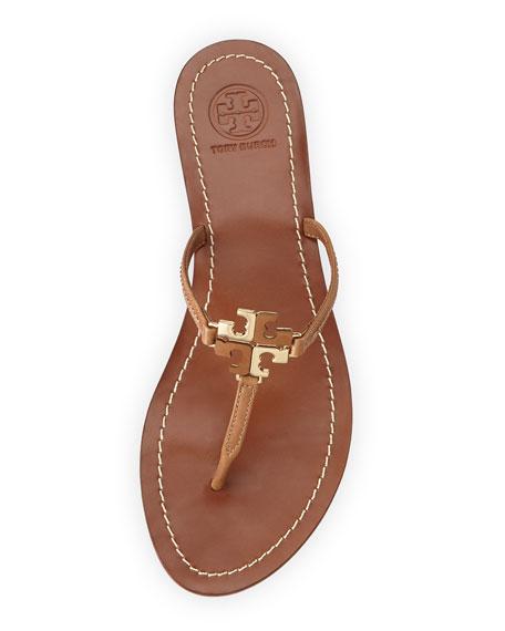 Lowell Logo Thong Sandal, Natural Bark