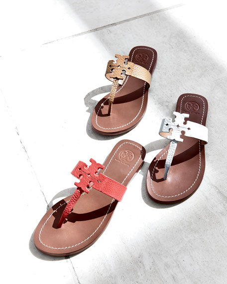 Image 2 of 4: Moore Leather Thong Sandal, Royal Tan