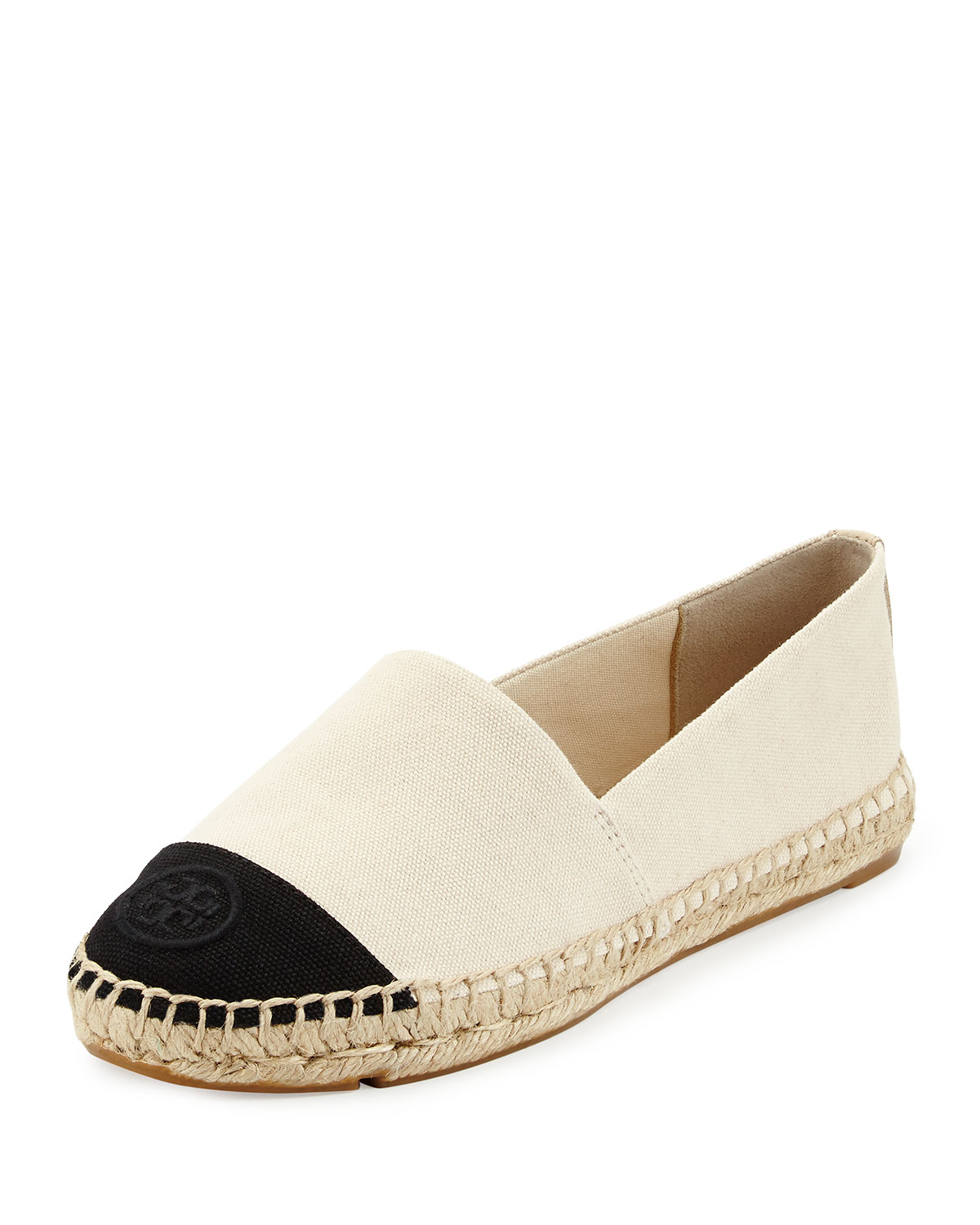 799b8ef3844 Tory Burch Canvas Colorblock Espadrille Flat