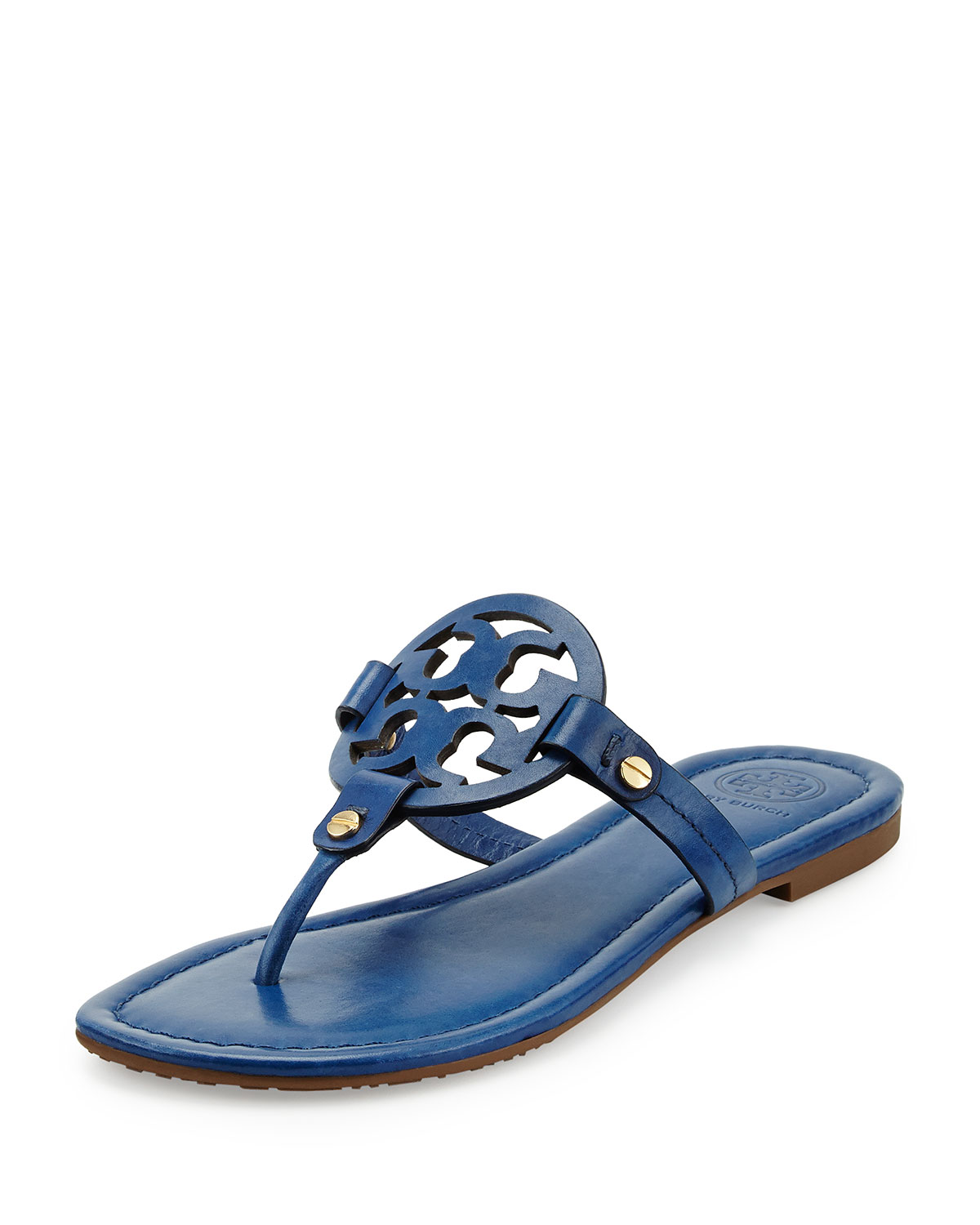 631d4257cc6ea4 Tory Burch Miller Leather Logo Thong Sandal