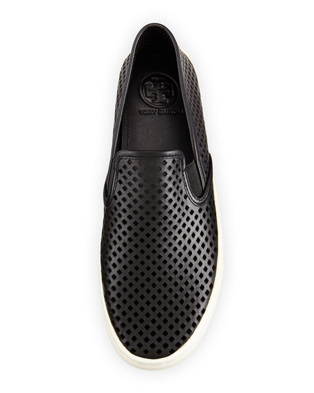 Jesse Perforated Slip-On Sneaker, Black
