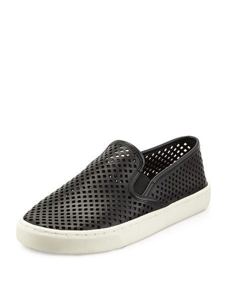 Tory Burch Jesse Perforated Slip-On Sneaker, Black