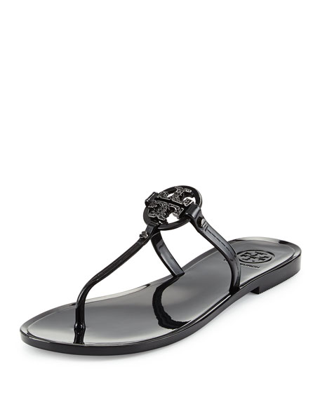 Tory Burch Mini Miller Flat Thong Sandal, Black