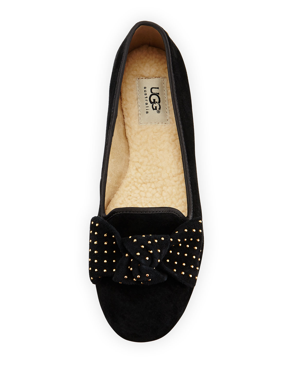 87b785d91cb Alloway Stud-Bow Suede Flat, Black