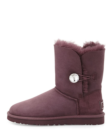 Bailey Bling Short Boot, Dark Purple