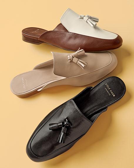 Tillary Leather Slip-On Mule, Harvest Brown/Ivory