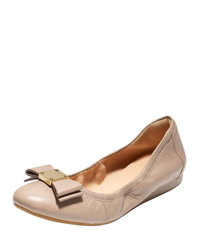 Tali Bow Ballet Flat, Maple Sugar