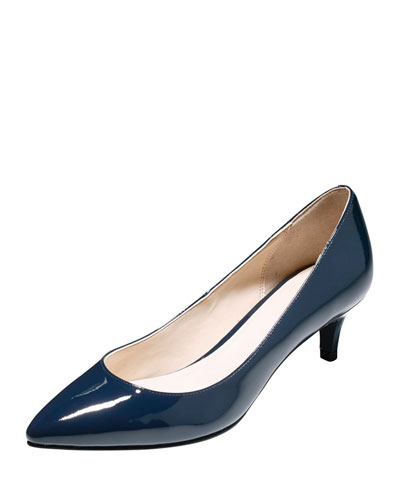 Juliana Patent Low-Heel Pump, Blazer Blue