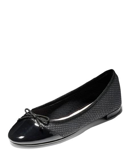 Cole Haan Sarina Cap-Toe Ballet Flat, Black