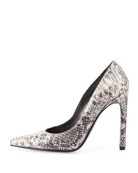 Queen Python-Print Pump, Metal